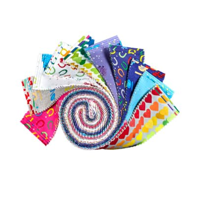 Clothworks. Shine Bright Jelly Roll 2-1/2 inch strips 40 pieces