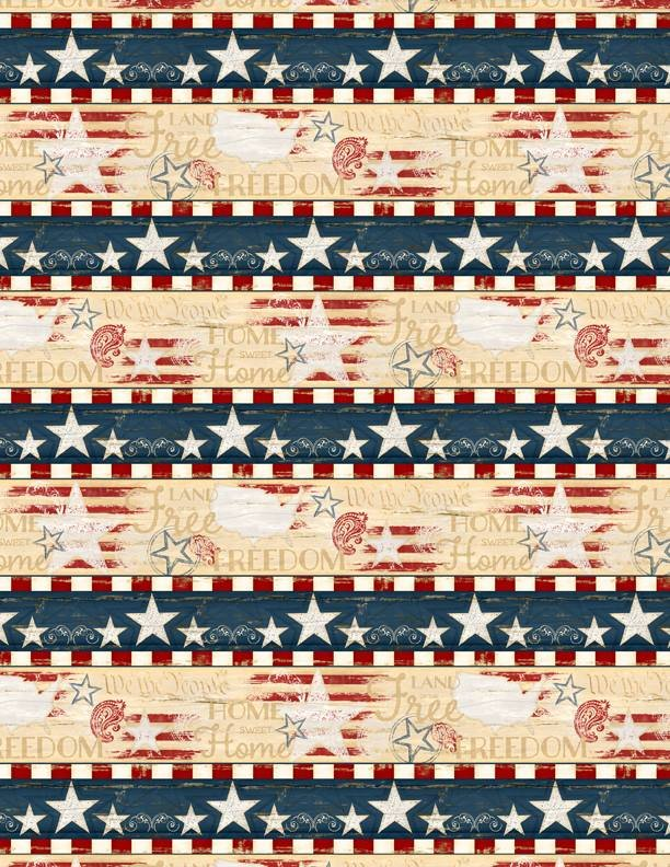 Colors of Freedom. Repeating Stripe