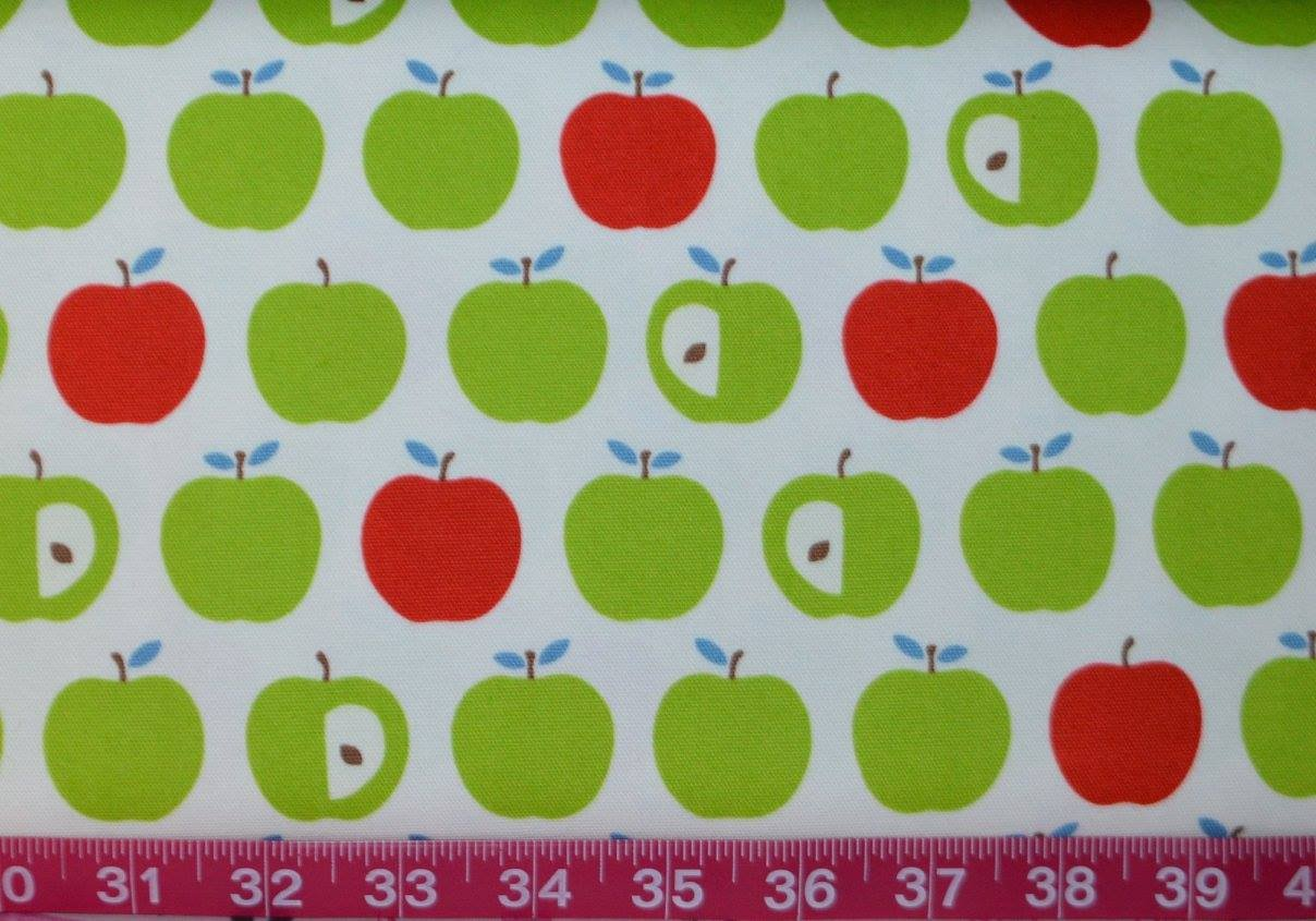 Cosmo. Apples Green/Red (Oxford Cloth)