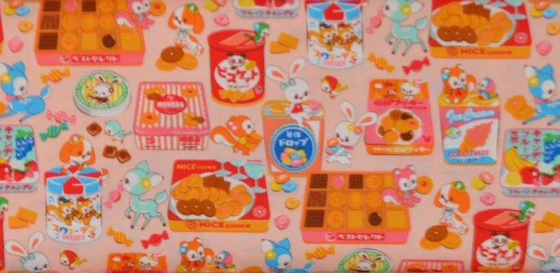 Cosmo Kawaii Animals & Snacks Pink
