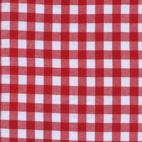 Cotton & Steel. 1/2 Gingham in Red Woven Cotton