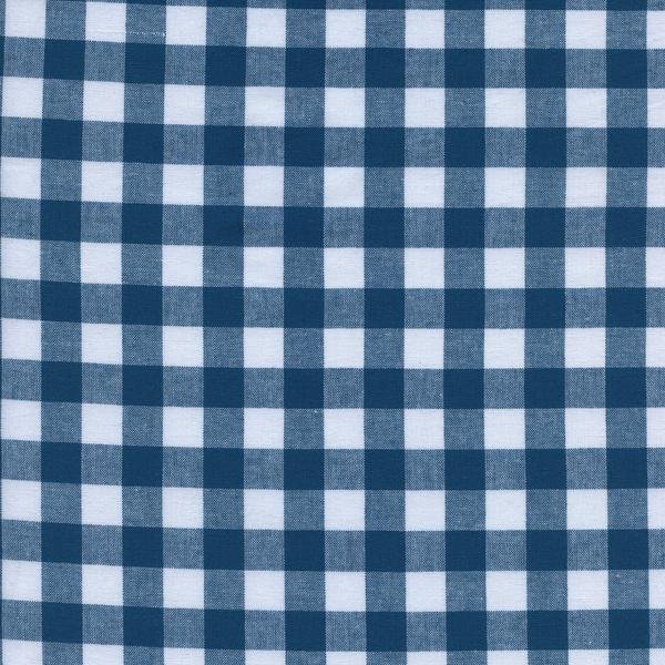 Cotton & Steel. 1/2 Gingham in Teal Woven Cotton