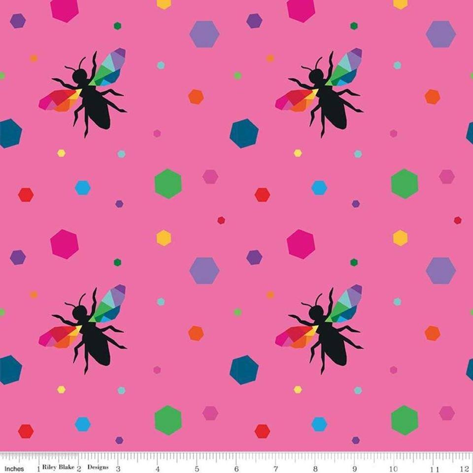 Create. Hexie Bees Pink