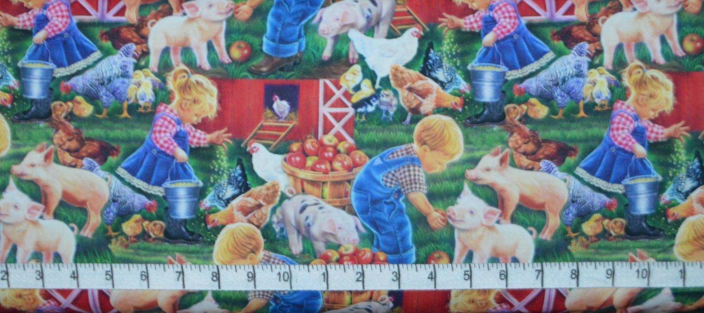 Little Farm Children DIGITALLY PRINTED