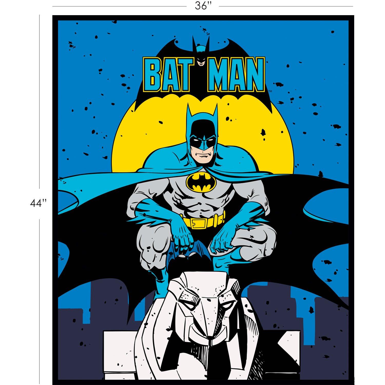 DC Comics II. Batman Panel in Blue Full Yard