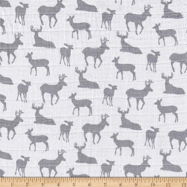 Deer to Me. Steel SWADDLE CLOTH