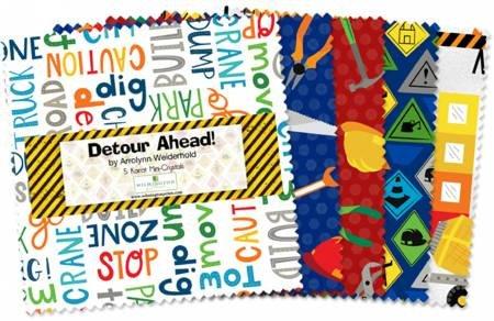 Detour Ahead! 5 Karat Mini-Crystals 24 - 5 inch squares