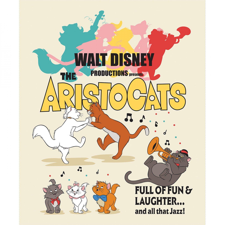 Camelot Fabrics. Disney Aristocats Poster Panel Full Yard
