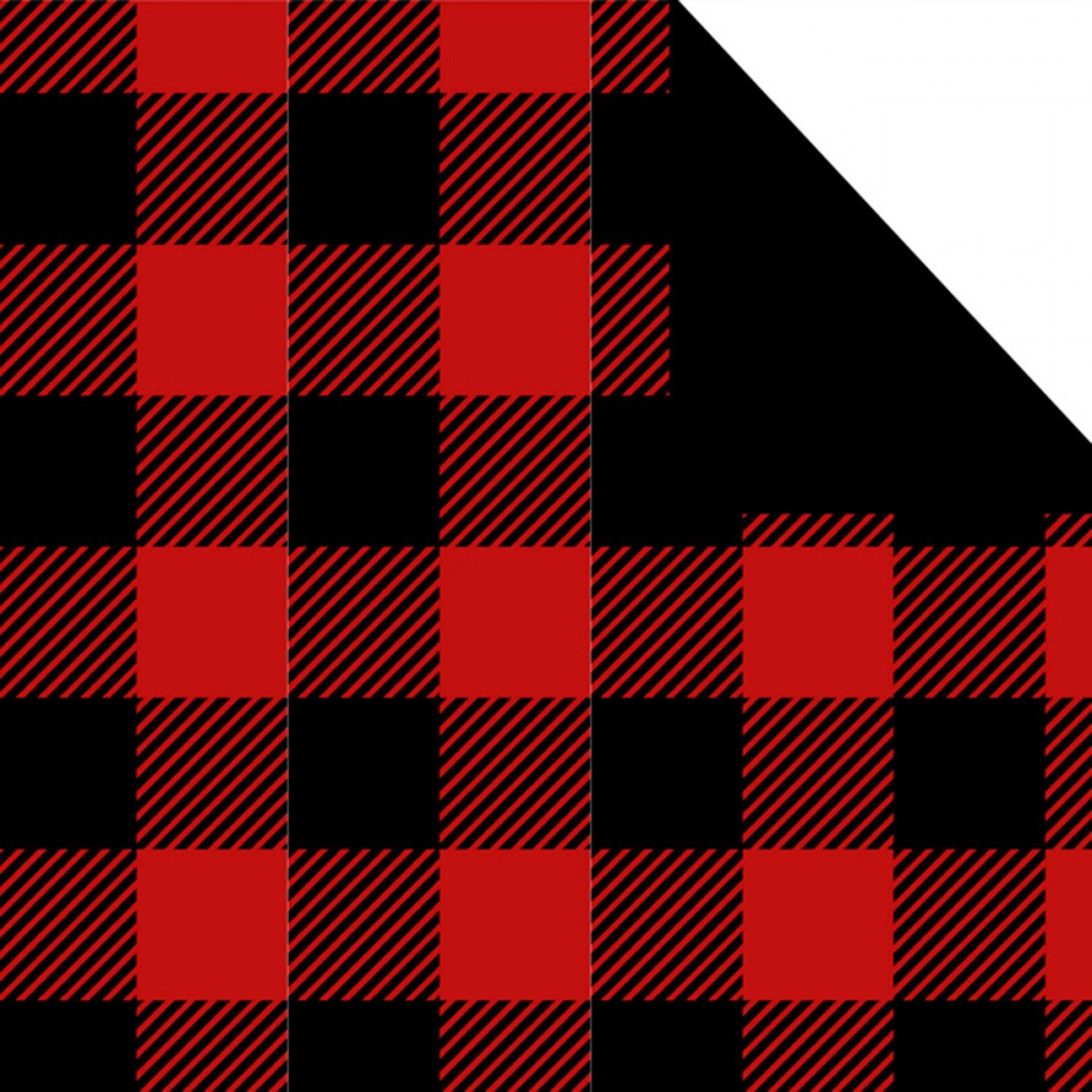 Double Faced Quilts. Buffalo Plaid Black Red Quilted Fabric