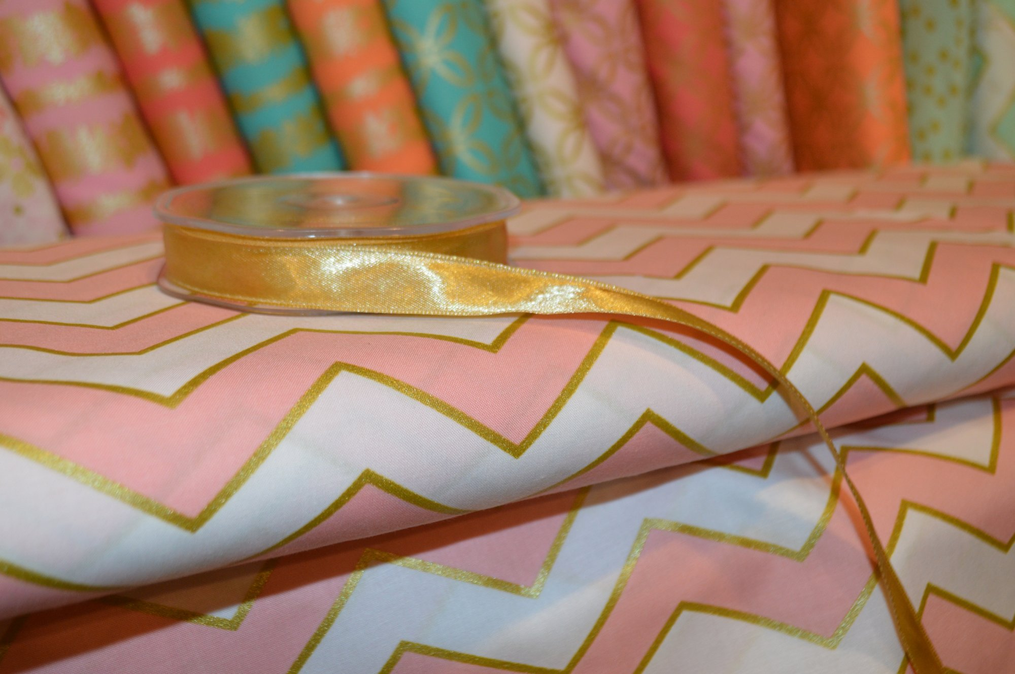Gold Double Faced Satin Ribbon