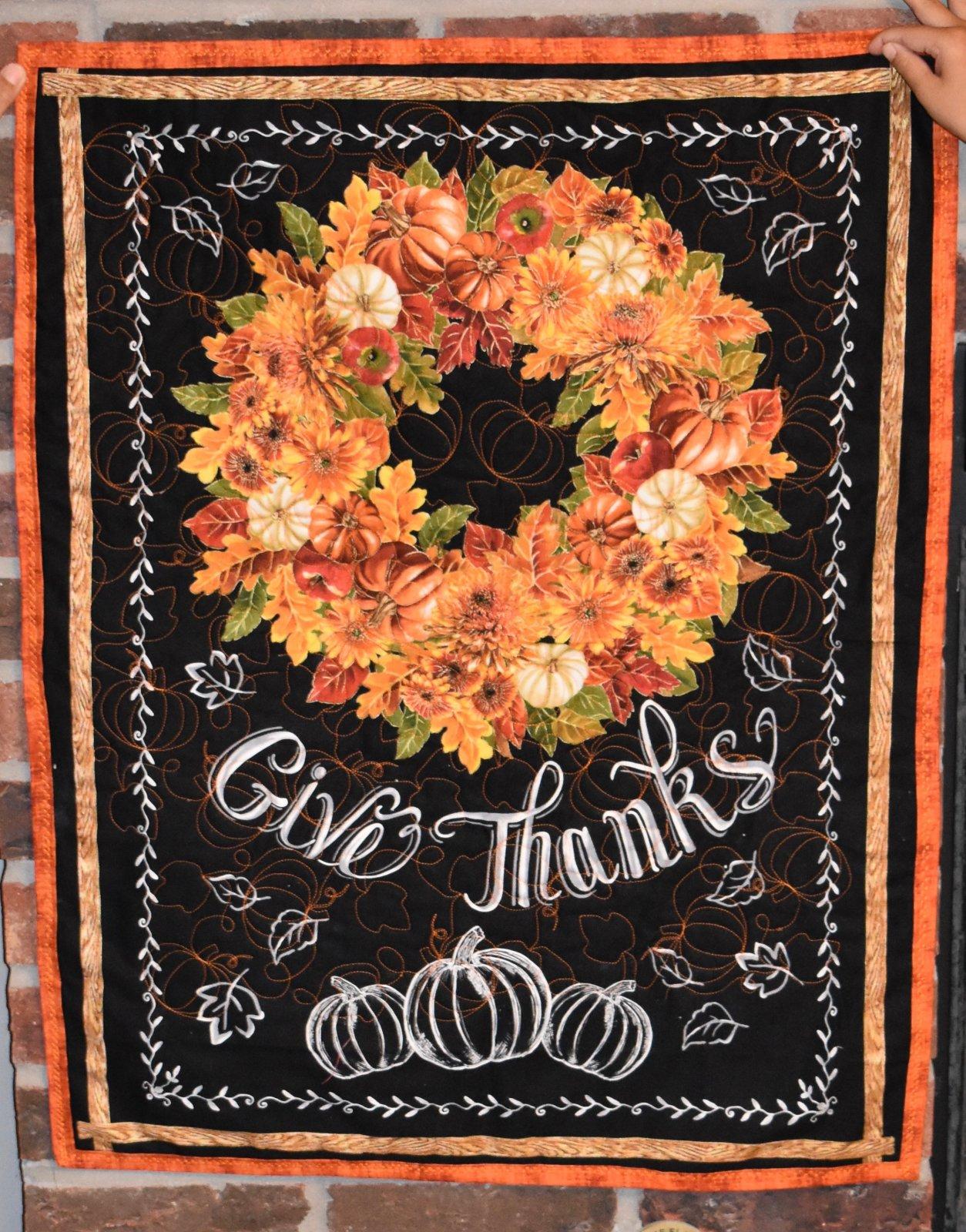 Give Thanks Door Hanger Quilt Kit