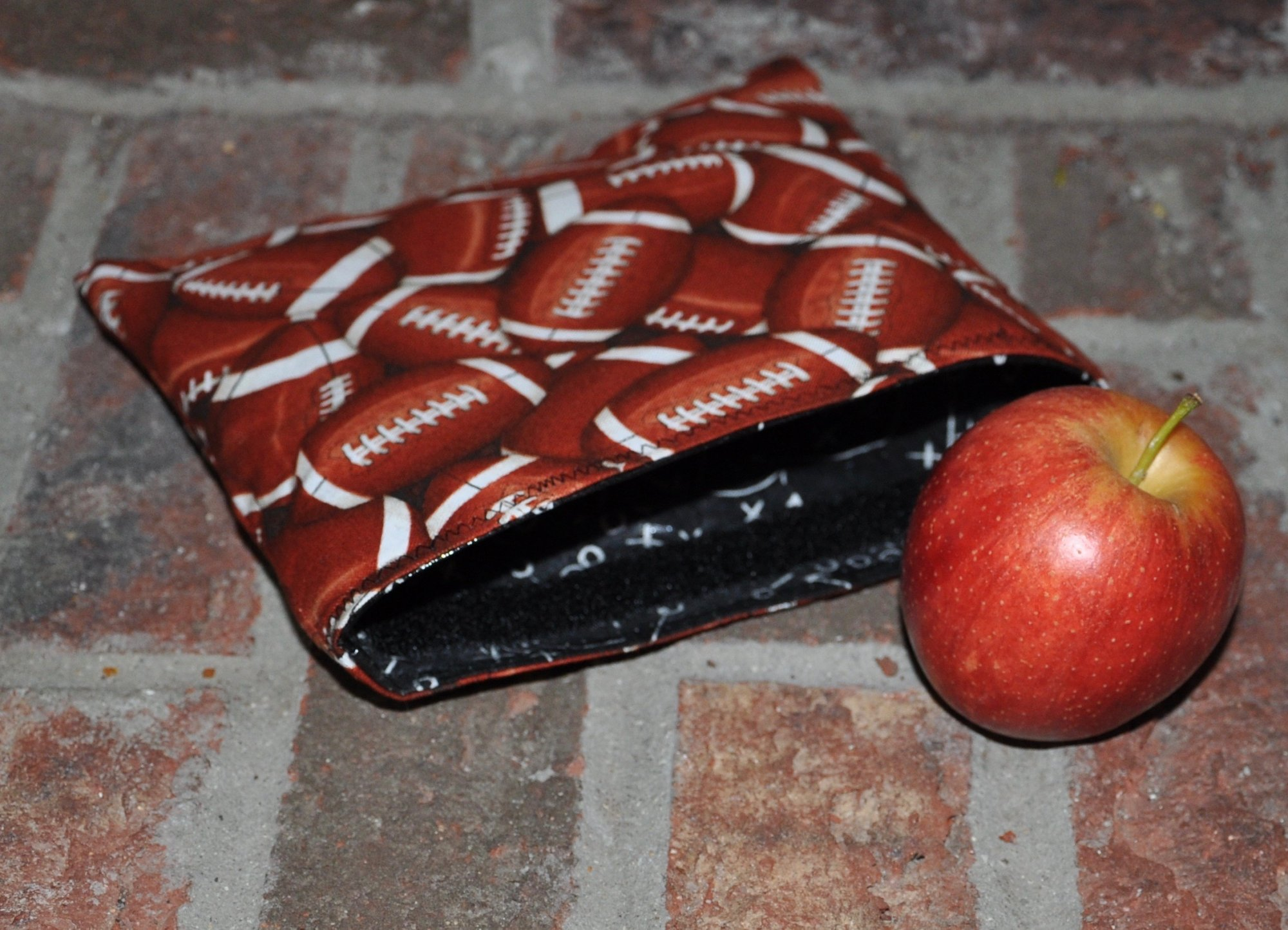 Football Reusable Snack Bag Kit