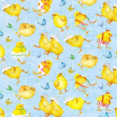 Easter Parade. Chicks Blue