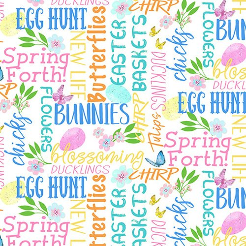 Easter Parade. Easter Words Multi