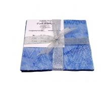 Fab Flakes. Blue Cave BATIK 24 - 5 inch squares