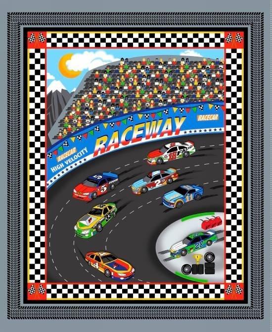 Fast Track. Race Car Panel Full Yard