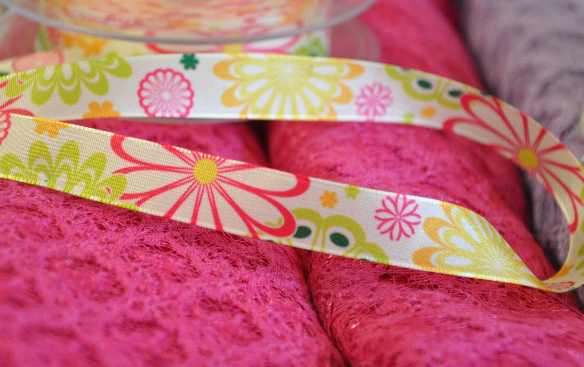 Floral Satin Ribbon