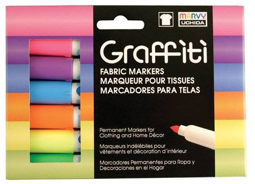 Graffiti Fabric Marker Fluorescent