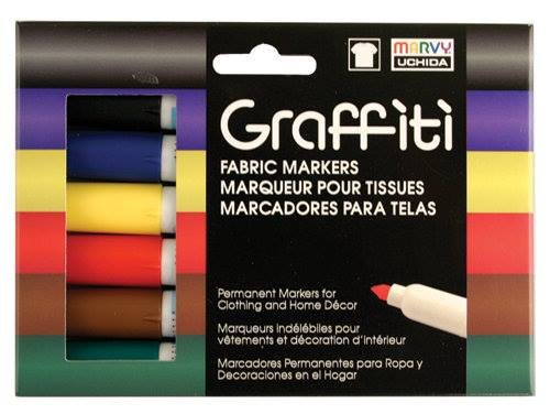 Graffiti Fabric Marker Primary