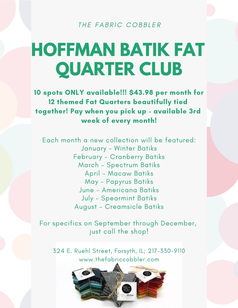 Hoffman Batik Monthly FQ Bundle - January 2019