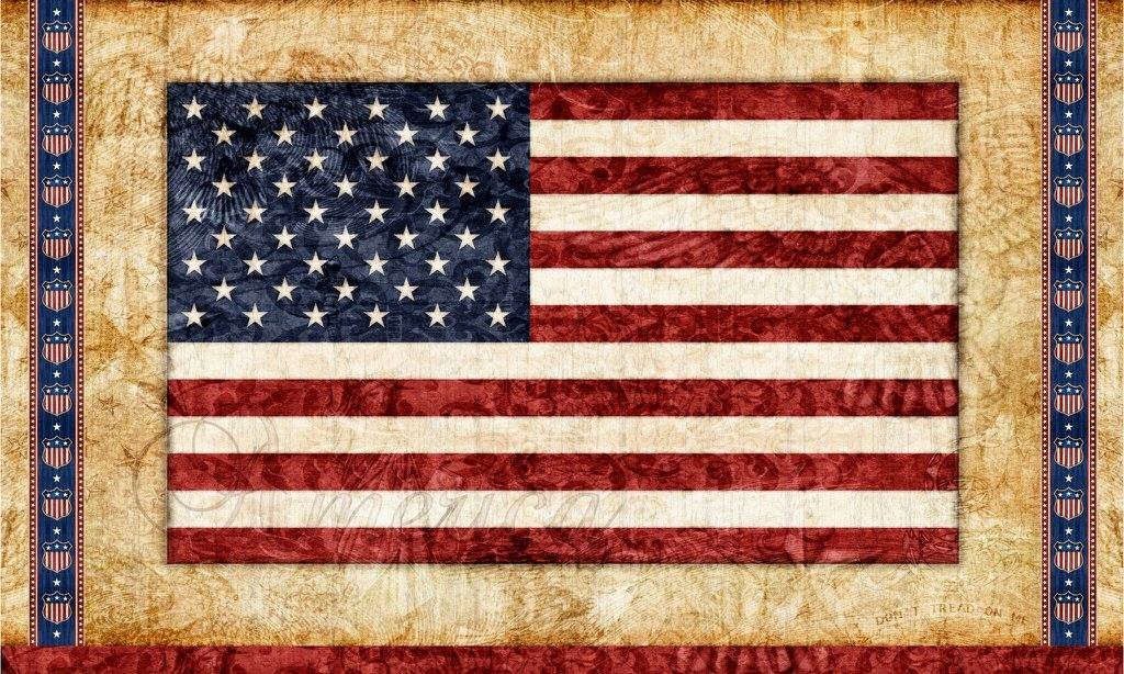 Home of the Brave. American Flag Panel 2/3 yd