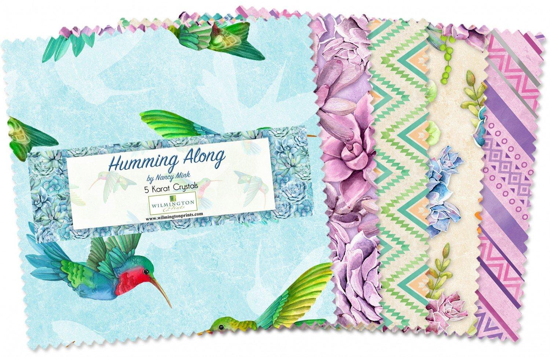 Humming Along 5 Karat Crystals 42- 5 inch squares