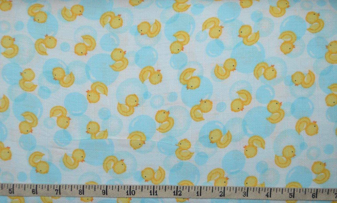 Just Be-Gauze. Rubber Duckie Swaddle Cloth