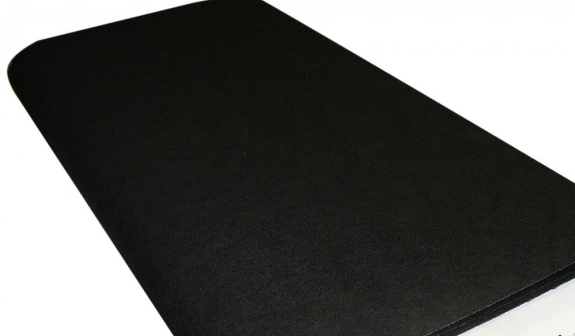 Kraft-tex. Kraft Paper Fabric Black 9 x 18