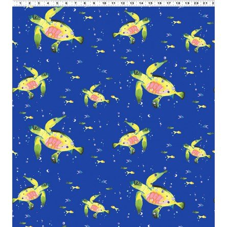 Lakeside Fun. Sea Turtles Dark Blue