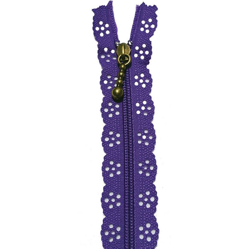 Little Lacie Zipper 12 inch Dk Purple