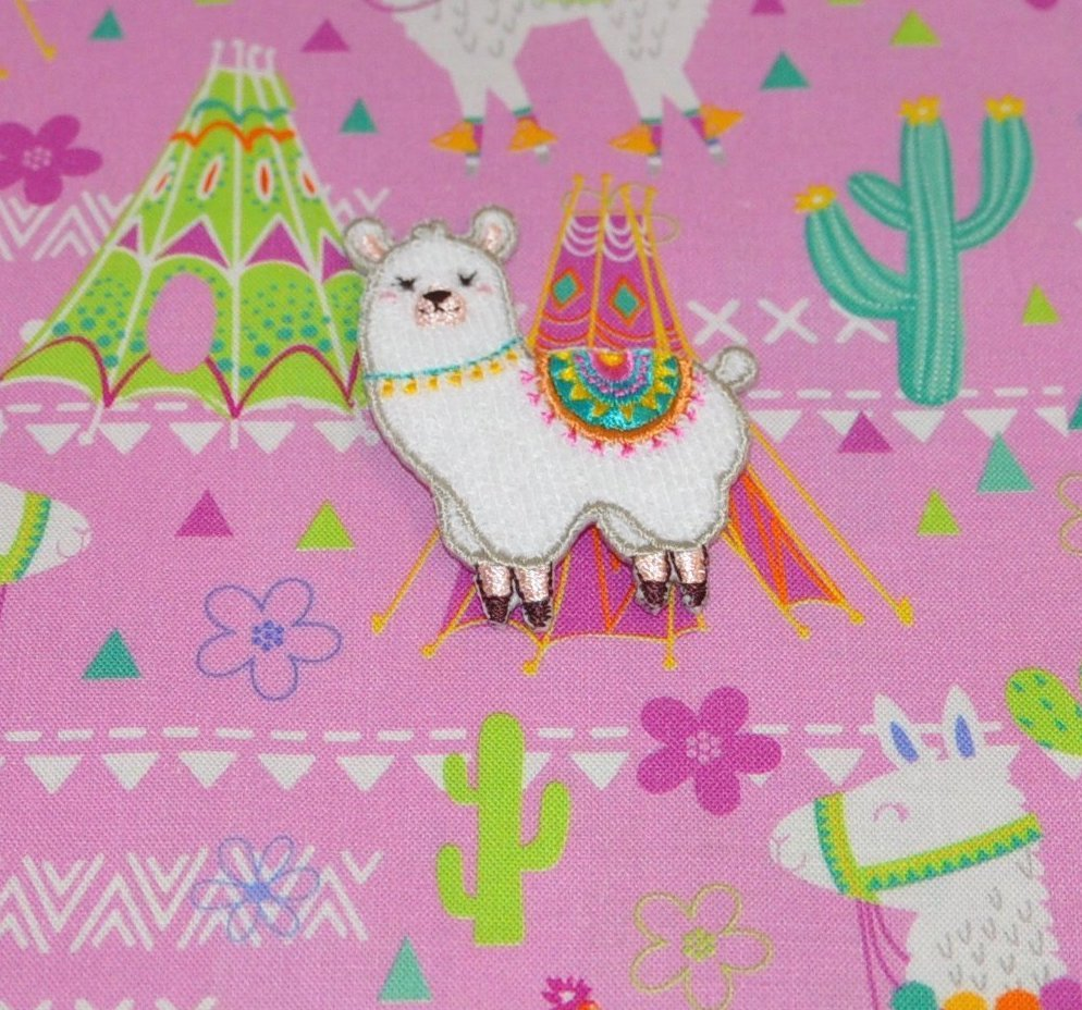 Llama Iron on Patch