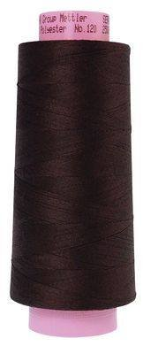 Mettler. Seracor Serger Thread, Very Dark Brown