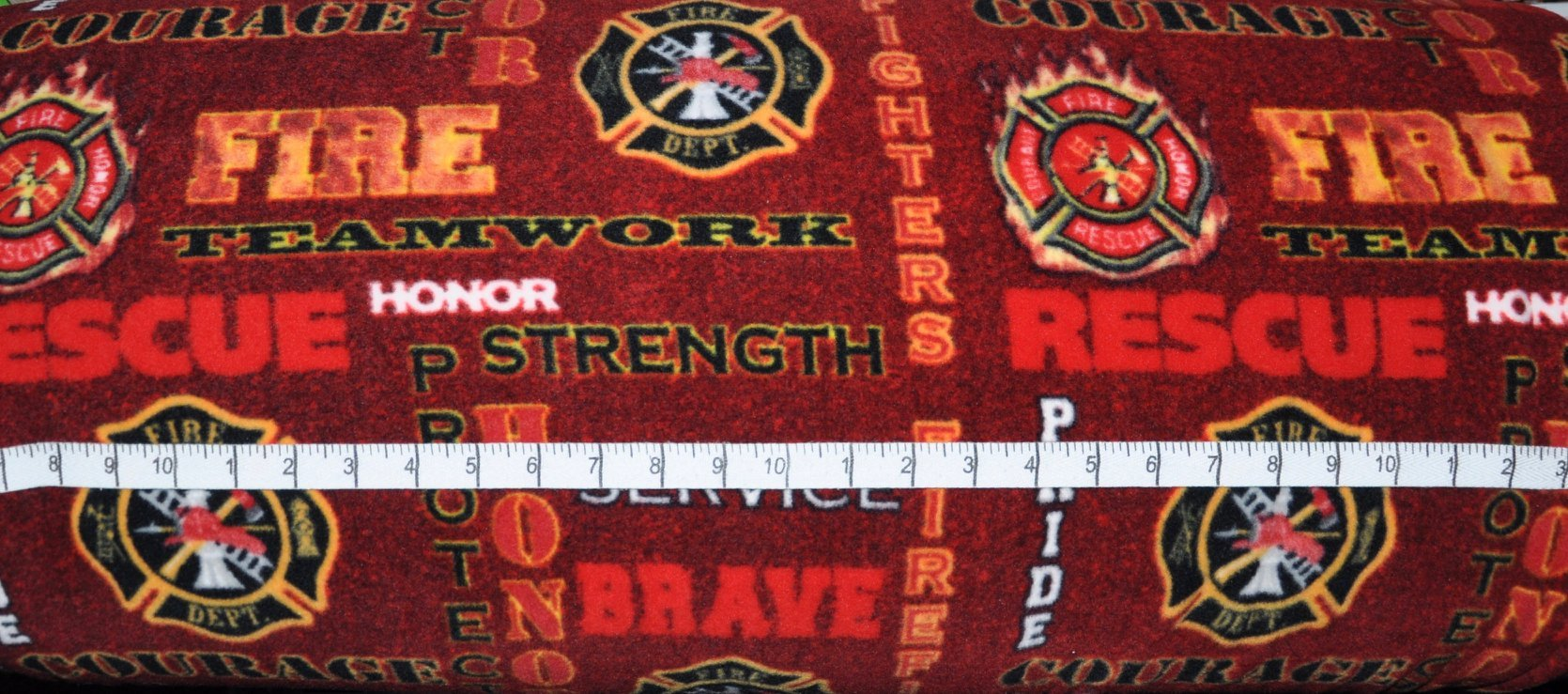 Military, Police & Fire. Firefighters Seal Allover Red Heather FLEECE
