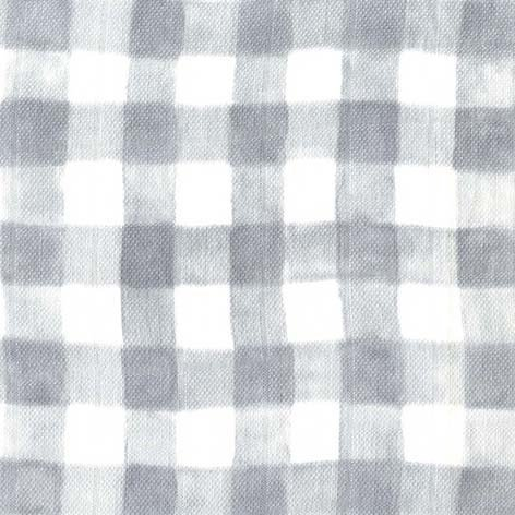 Mini Painted Gingham Gray SWADDLE CLOTH