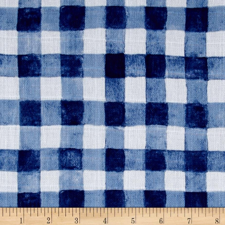 Mini Painted Gingham Navy SWADDLE CLOTH