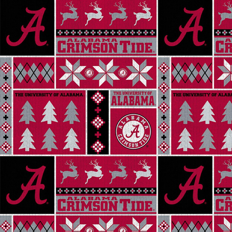 NCAA Alabama Crimson Tide Ugly Sweater FLEECE 58/60 wide