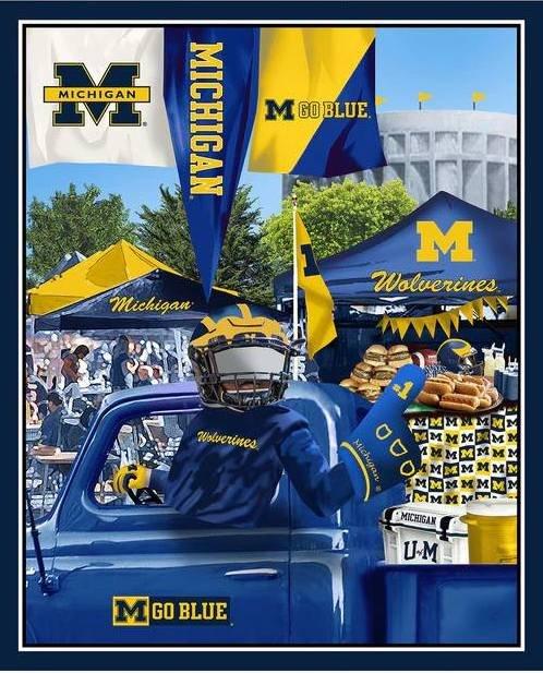 NCAA Michigan Wolverines Tailgate Panel 36 inch Digitally Printed