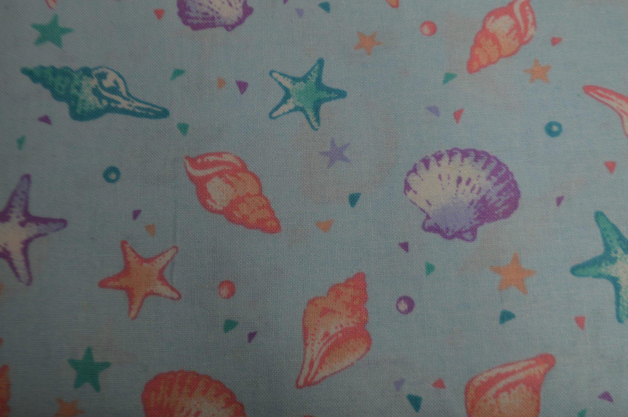 Cosmo Seashells & Starfish Aqua
