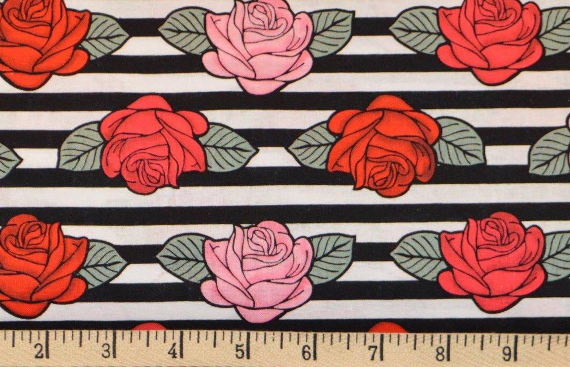 Stripe & Roses