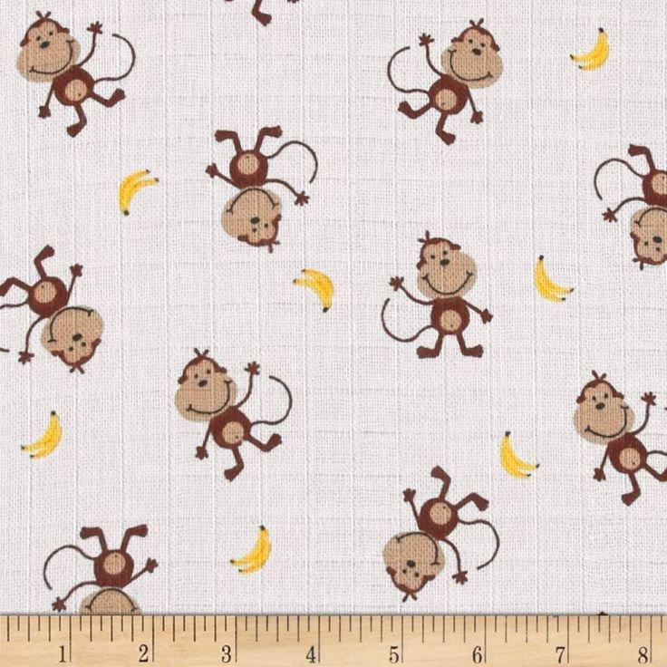Baby Love. Monkey Banana SWADDLE CLOTH