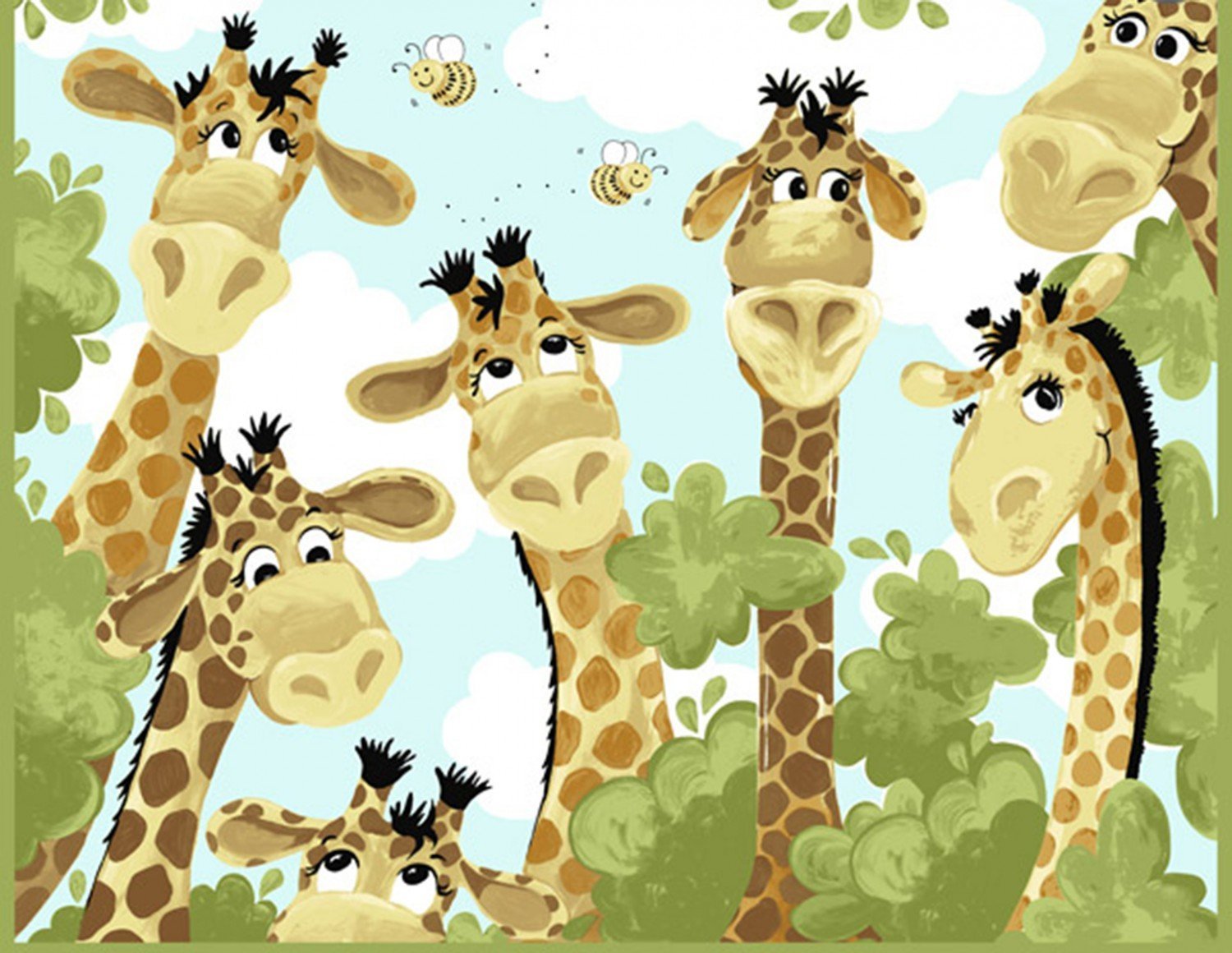 Susybee. Zoe the Giraffe Playmat Panel Full Yard