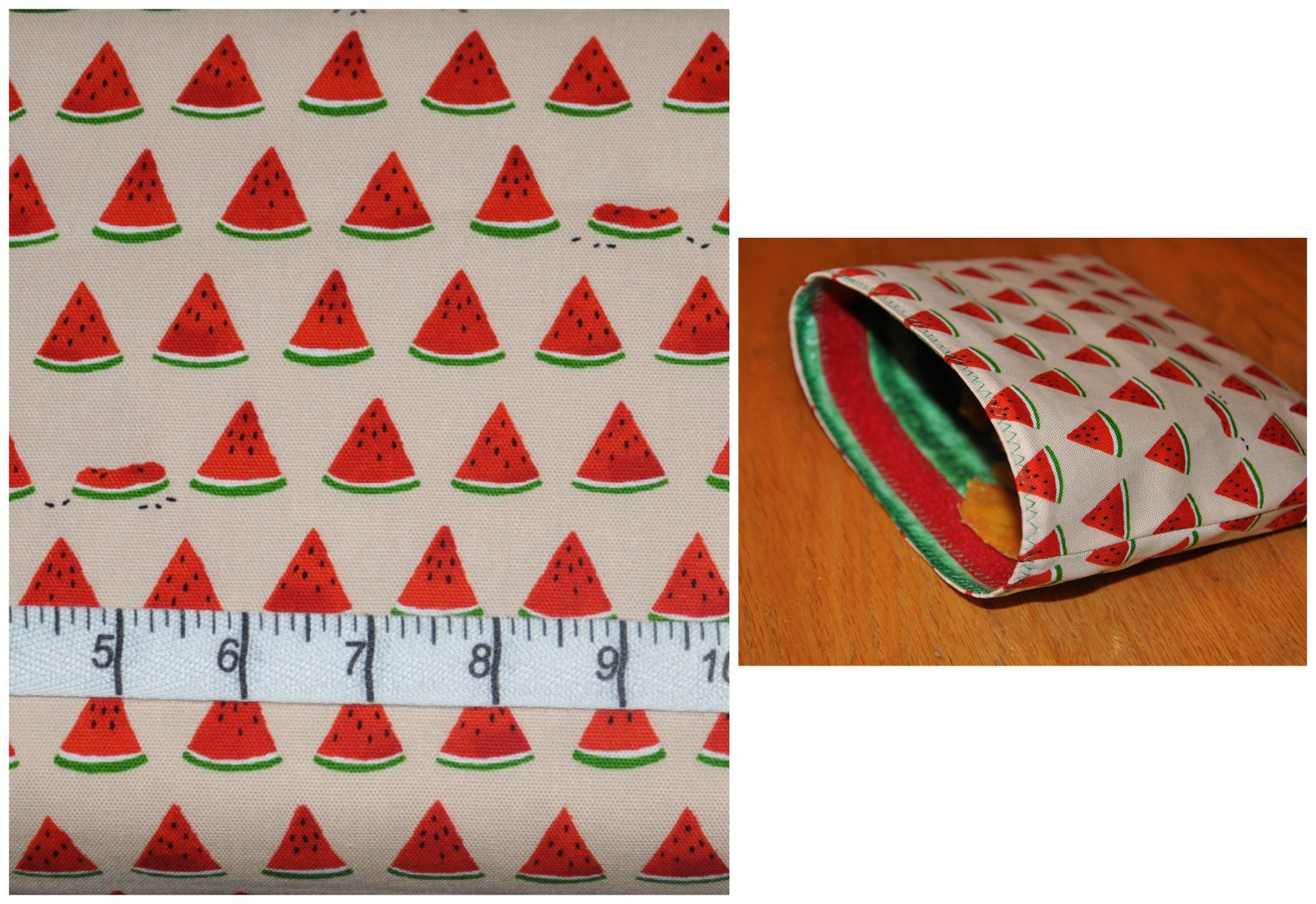 Watermelon Slices Reusable Snack Bag Kit