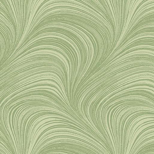 Wave Texture. Wide Quilt Back Green - 108 Inch