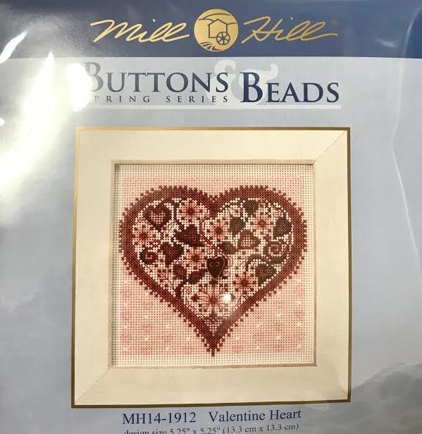 Valentine Heart Counted Needlepoint kit