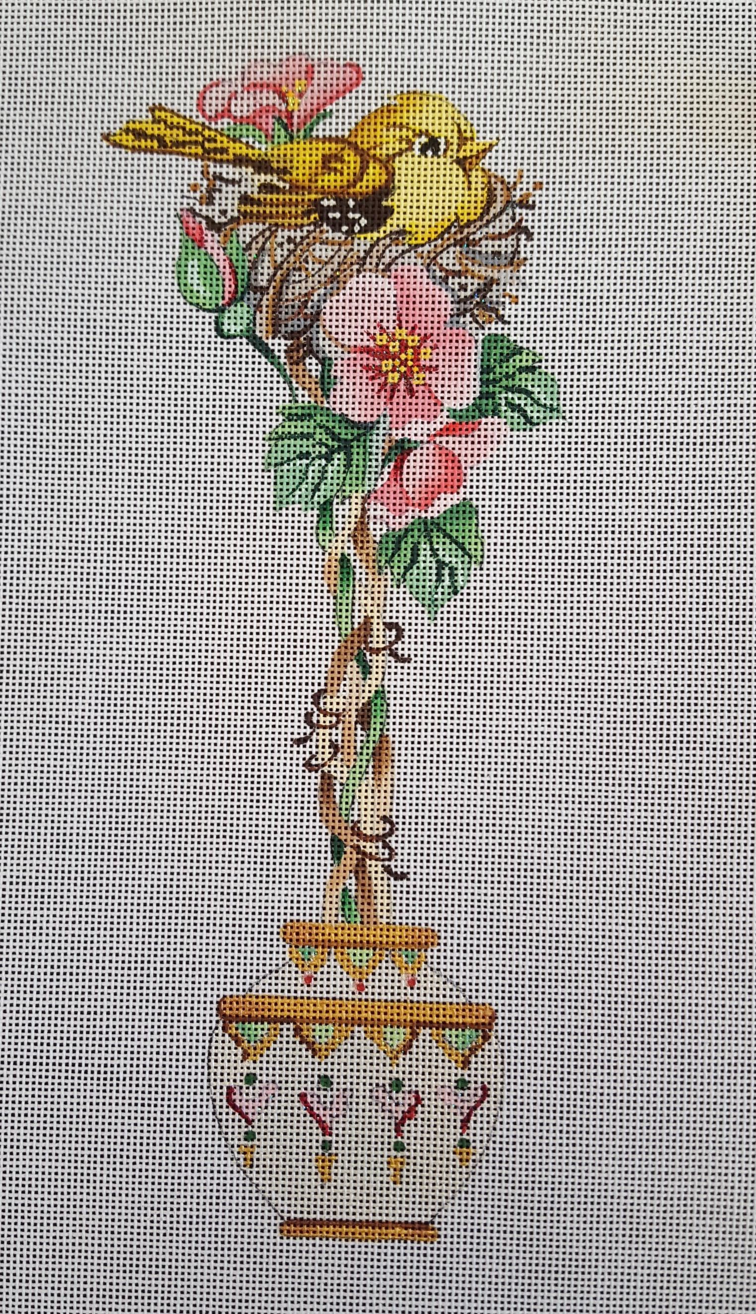 Bird in Flower Planter