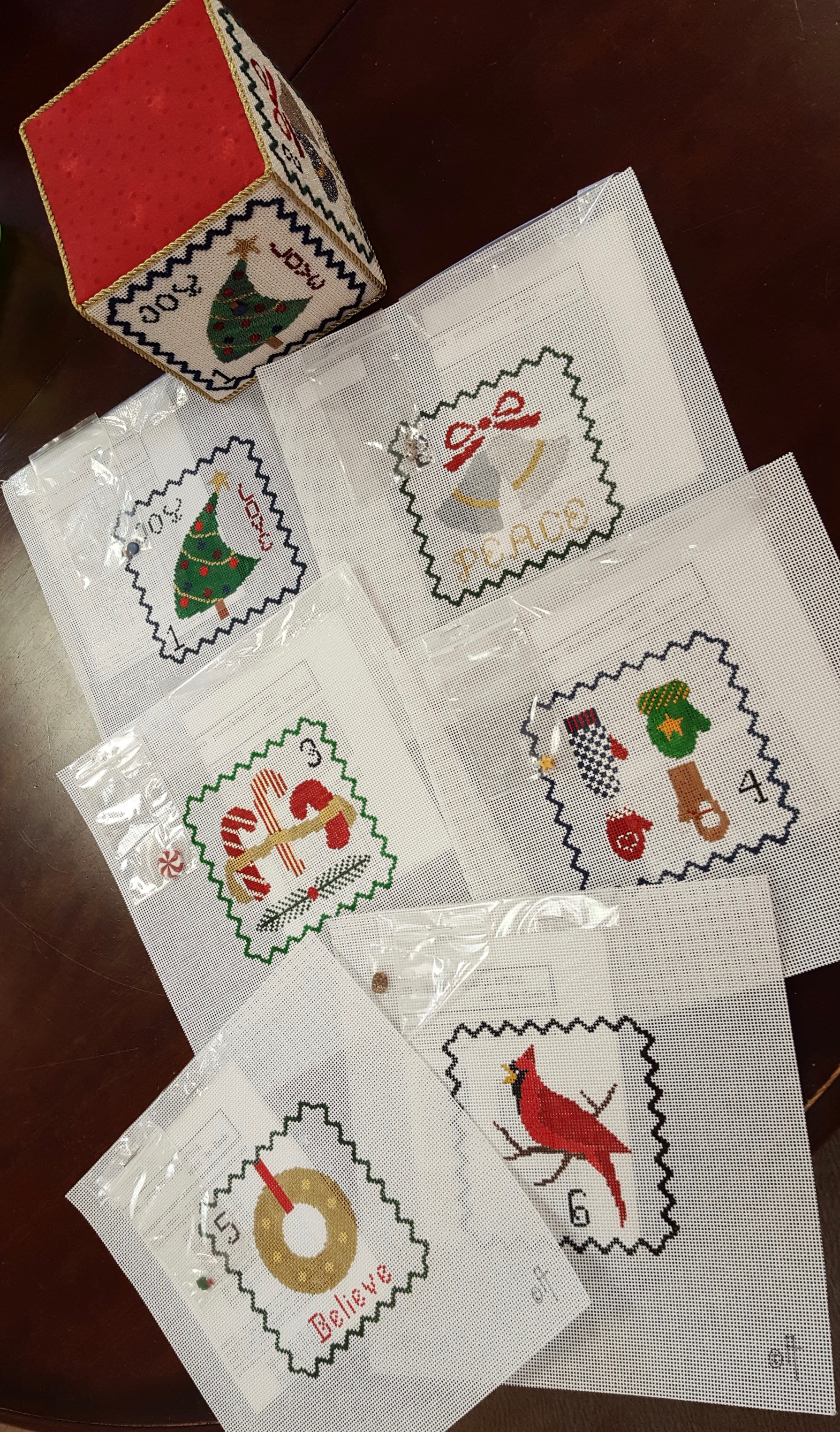 Christmas Blocks Set - 12 canvases