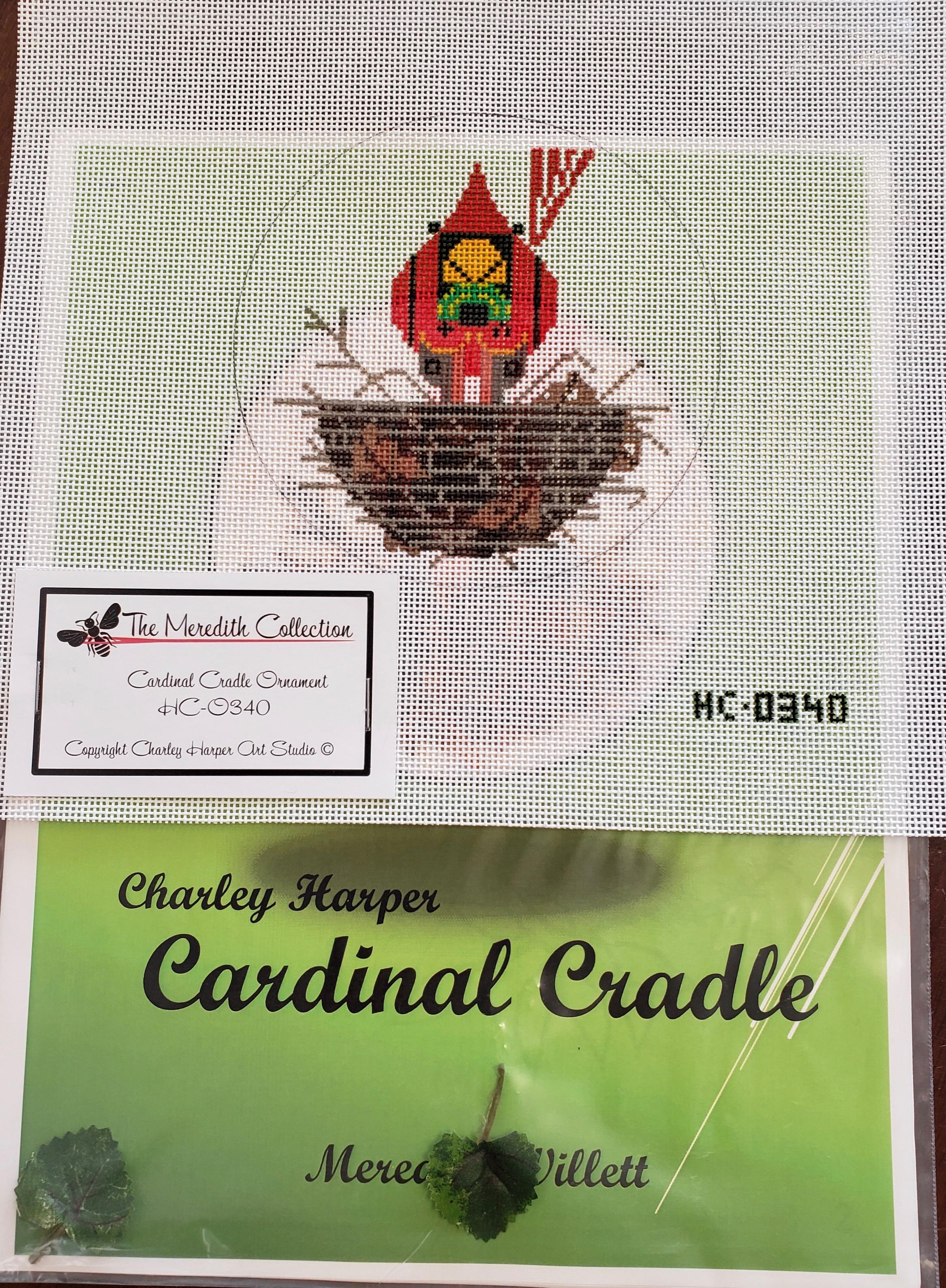 Cardinal Cradle Ornament & Stitch Guide