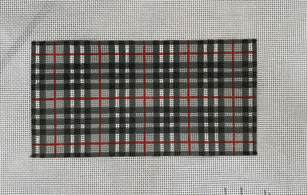 Dark grey/grey/red plaid insert