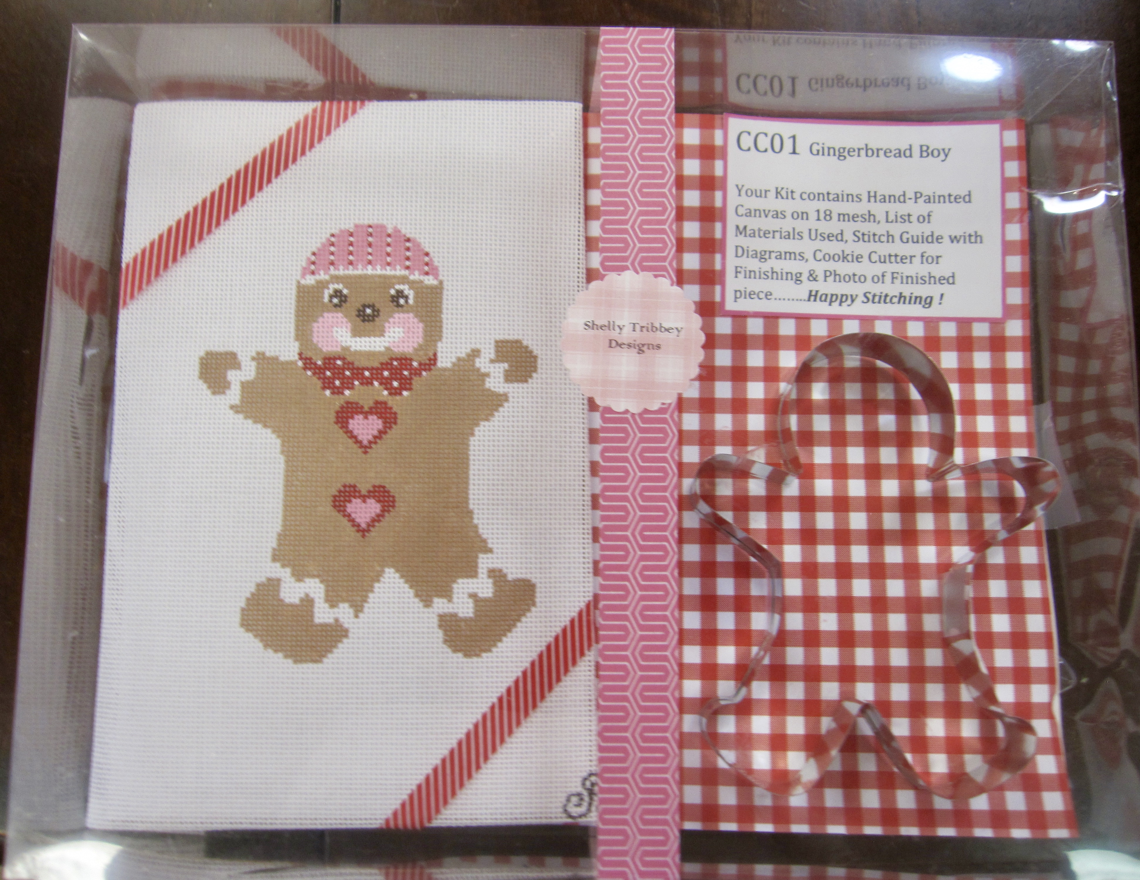 Gingerbread Boy self-finishing kit