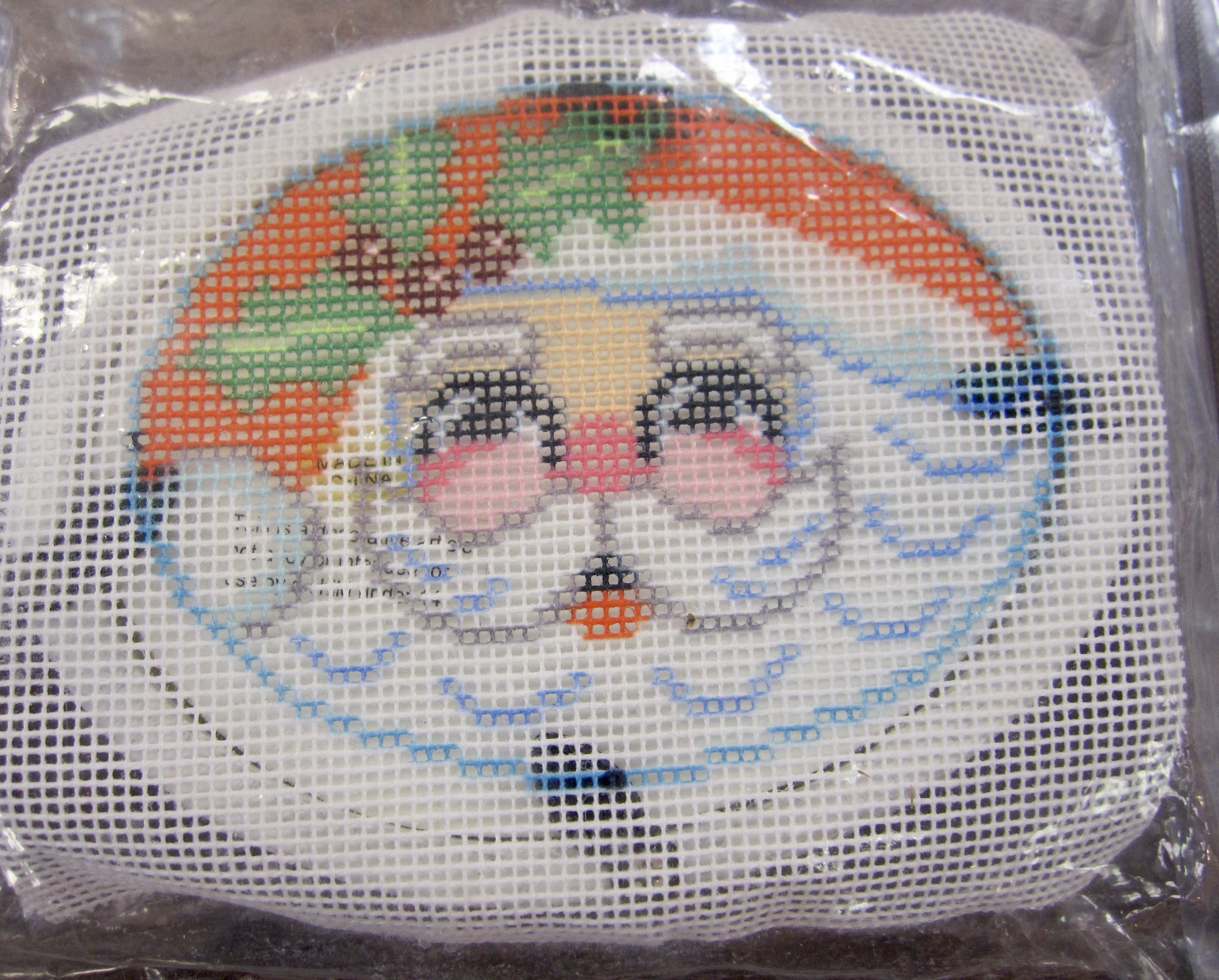 Santa Claus face and frame kit ornament